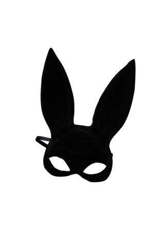 masker met konijnenoren zwart