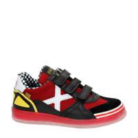 Munich   leren sneakers rood/zwart, Rood/zwart
