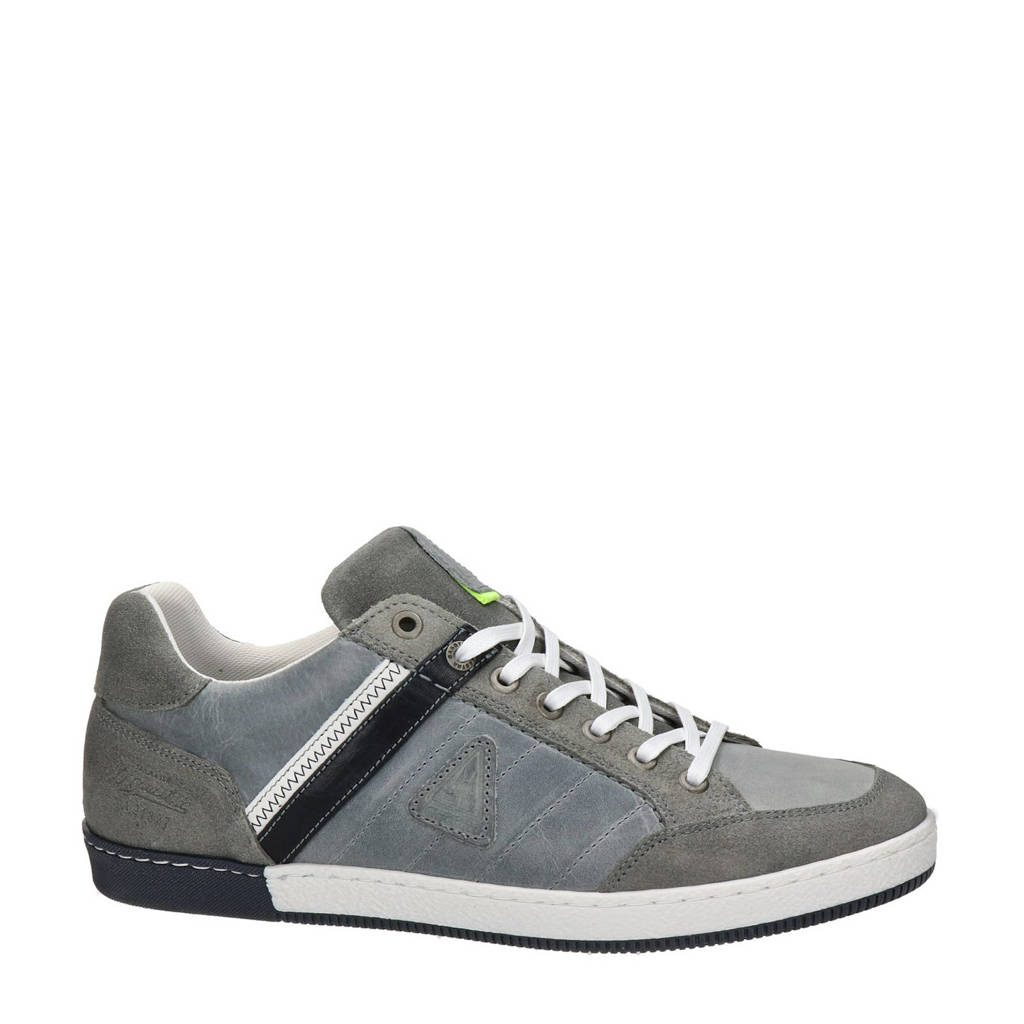 Gaastra Willis  leren sneakers grijs, Lichtgrijs