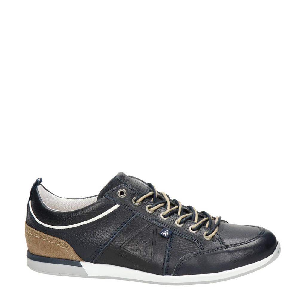 Gaastra Bayline  leren sneakers donkerblauw, Donkerblauw/bruin