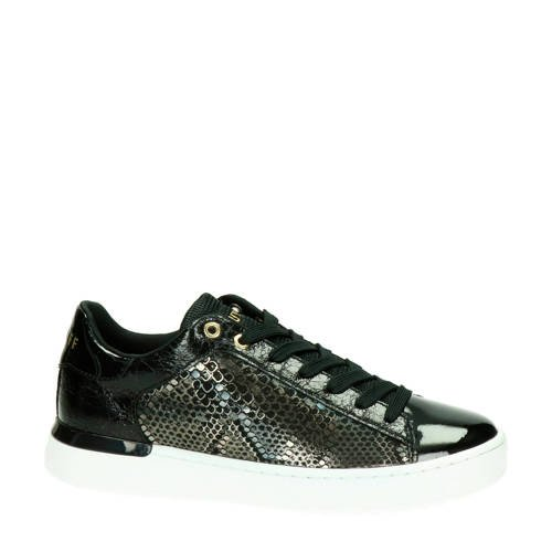 Cruyff Patio Lux sneakers zwart/slangenprint