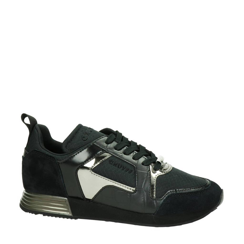 Cruyff Lusso  sneakers zwart, Zwart/metallic