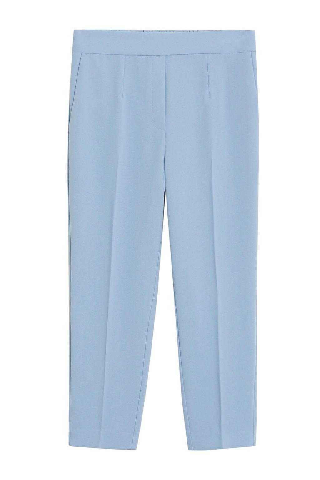 Mango regular fit pantalon lichtblauw, Lichtblauw