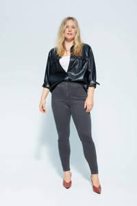 Violeta by Mango high waist skinny jeans grijs, Grijs
