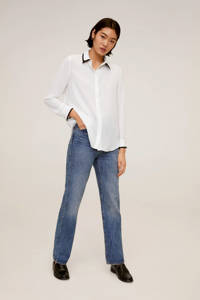 Mango blouse naturel wit