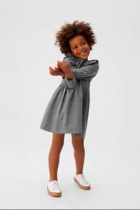 Mango Kids A-lijn jurk met stippen grijs, Grijs