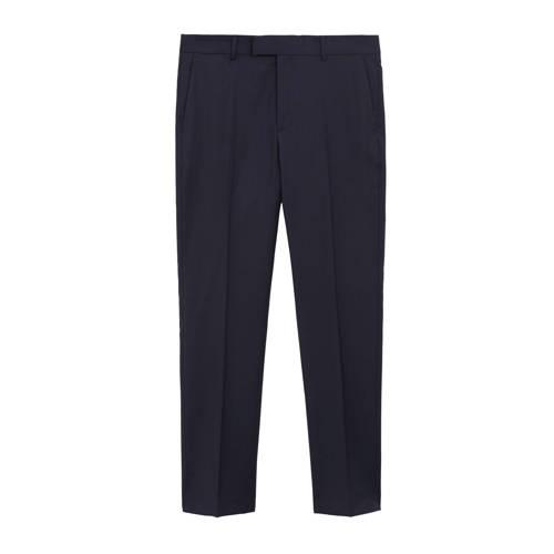 Mango Man wollen slim fit pantalon met krijtstreep
