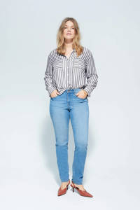 Violeta by Mango gestreepte blouse grijs, Grijs