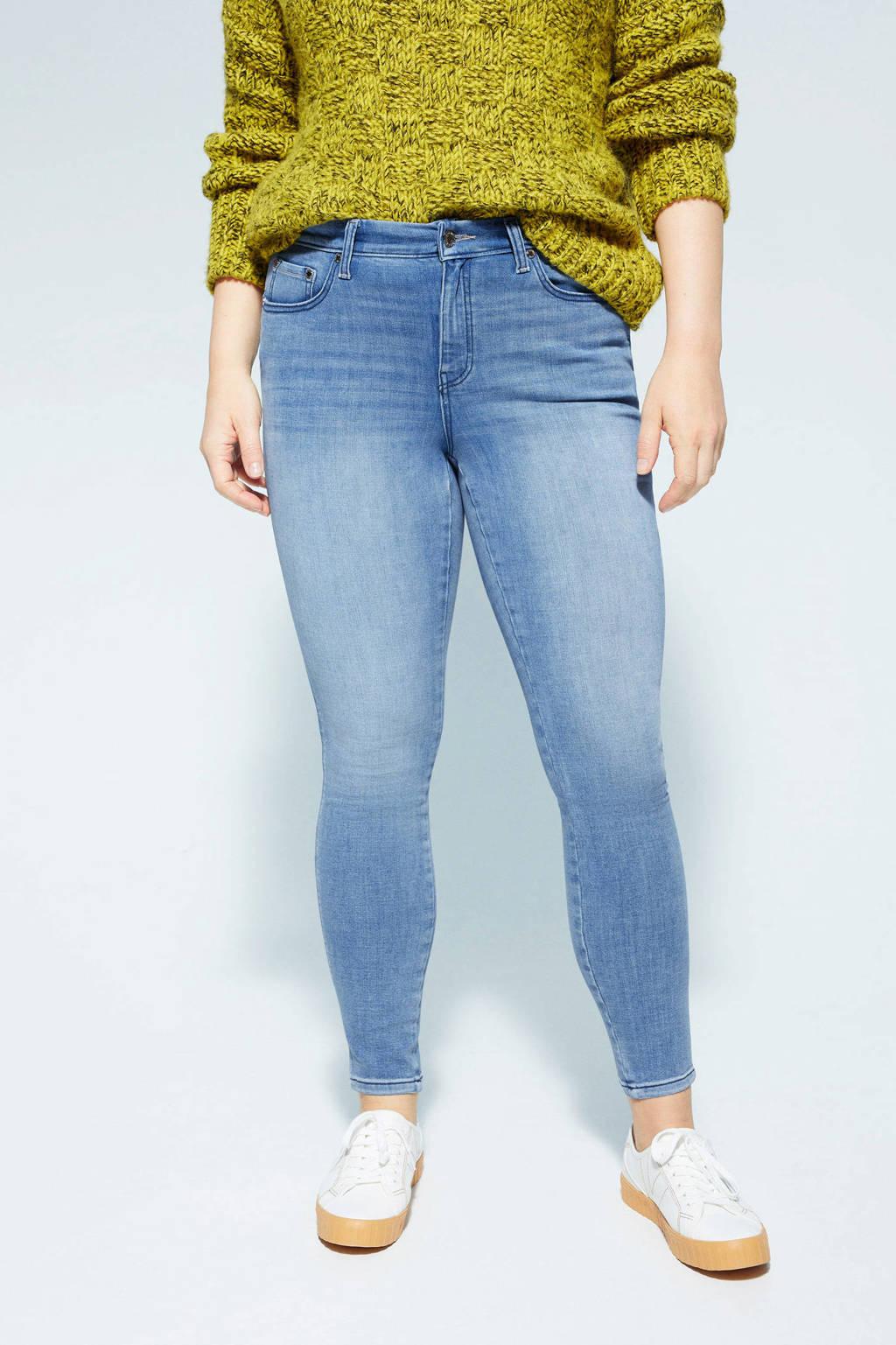 Violeta by Mango push-up skinny jeans blauw, Blauw