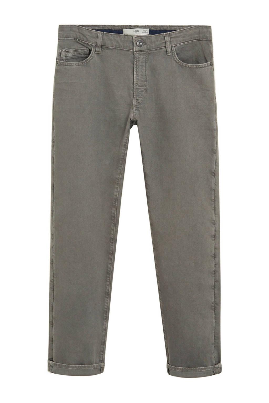 Mango Man slim fit jeans grijs, Grijs