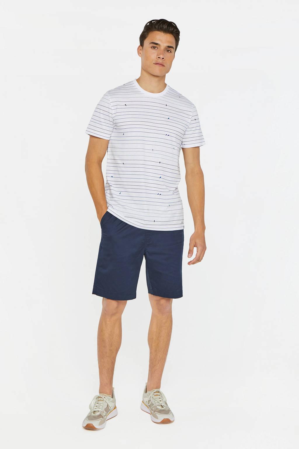 WE Fashion gestreept T-shirt wit, Wit