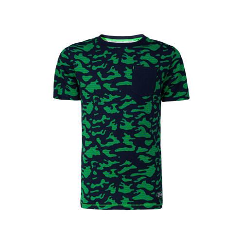 WE Fashion regular fit T-shirt met camouflageprint
