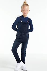 WE Fashion Blue Ridge super skinny fit tuinbroek dark denim, Dark denim