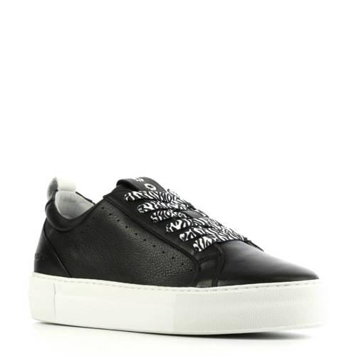 Red Rag 74308 leren sneakers zwart