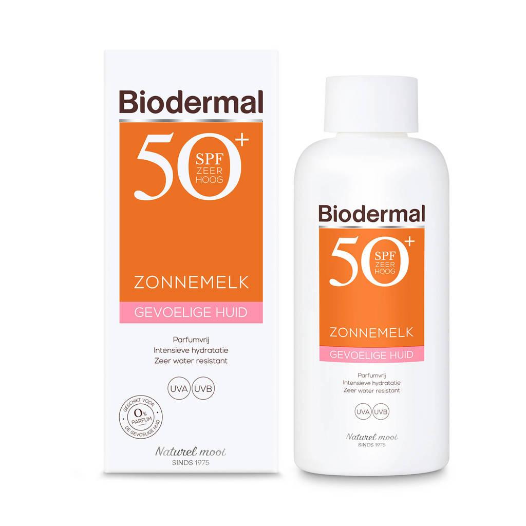 Biodermal Zonnemelk gevoelige huid SPF50+