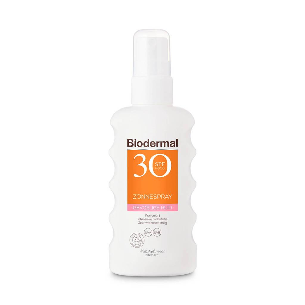 Biodermal Zonnebrand spray voor de gevoelige huid SPF 30