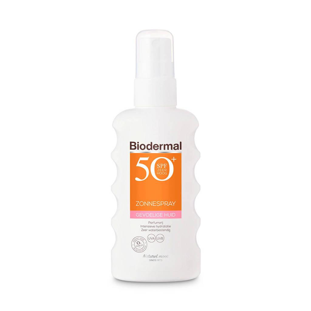 Biodermal Zonnebrand spray voor de gevoelige huid SPF 50+