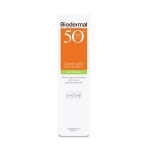 Zonnebrand Matterende Zonnefluïde voor het gezicht SPF 50