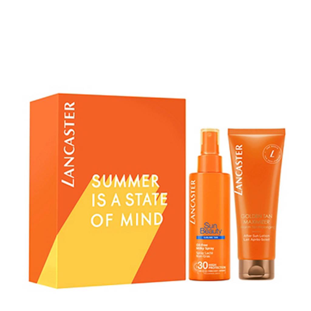 Lancaster geschenkset Sun Beauty Care Oil Free Milky spray SPF30 150ml + Golden Tan Maximizer After Sun Lotion 125ML