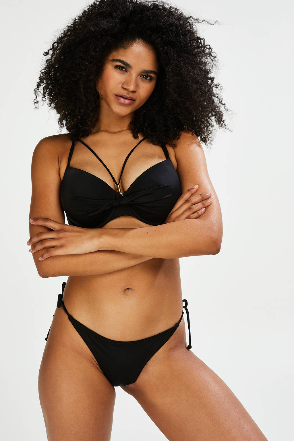 Hunkemöller voorgevormde beugel bikinitop Sunset Dreams zwart, Zwart