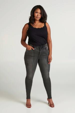 high waist skinny jeans Amy grijs