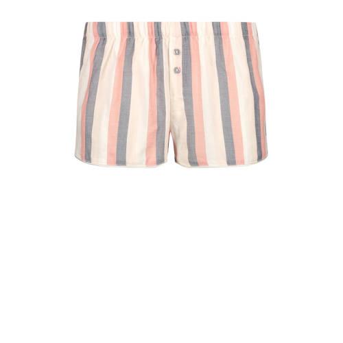 Hunkem??ller gestreept pyjamashort Oxford roze