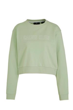 croppped sportsweater mintgroen