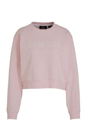 cropped sportsweater lichtroze