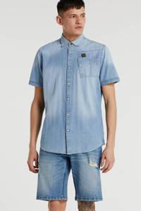 Redefined Rebel regular fit jeans short soft blue