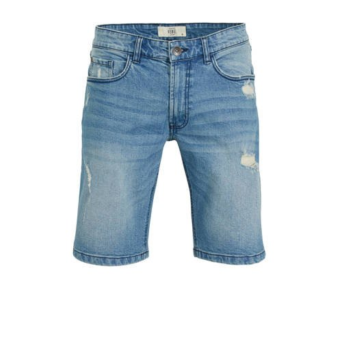 Redefined Rebel regular fit jeans short soft blue