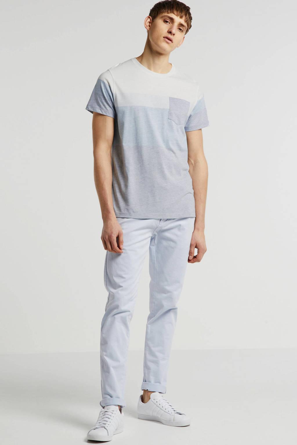 Redefined Rebel gestreept T-shirt grijs, Grijs