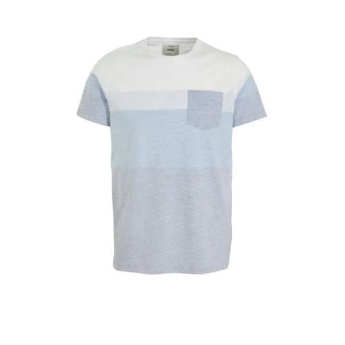 Redefined Rebel gestreept T-shirt grijs