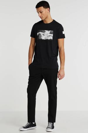 T-shirt met printopdruk zwart