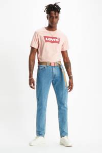 Levi's T-shirt met logo roze/rood/wit, Roze/rood/wit