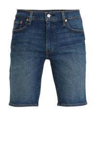 Levi's 502 regular fit jeans short blauw, Blauw