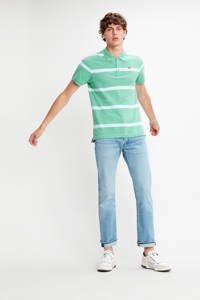 Levi's gestreepte regular fit polo groen, Groen