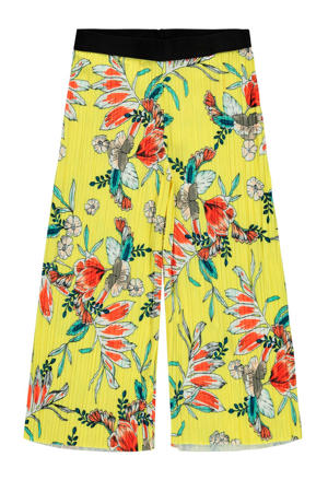 loose fit broek Hana met all over print geel/oranje/groen