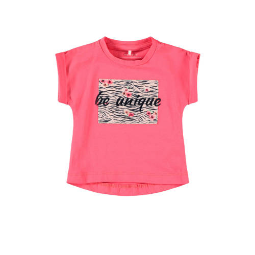 NAME IT BABY baby T-shirt Jalin met biologisch kat