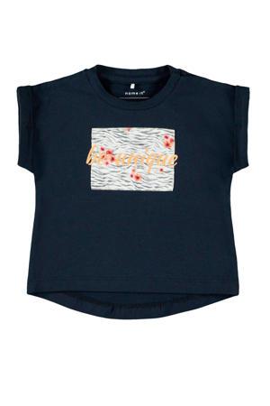 baby T-shirt Jalin met biologisch katoen donkerblauw