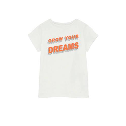 NAME IT KIDS T-shirt Hellen met biologisch katoen