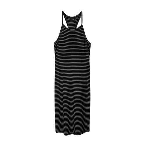 LMTD gestreepte jurk Jily zwart/wit