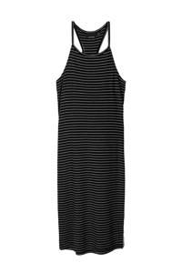 LMTD gestreepte jurk Jily zwart/wit, Zwart/wit