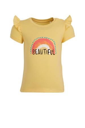 baby T-shirt Hilda met biologisch katoen geel/blauw/roze