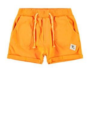 sweatshort Jans met biologisch katoen oranje