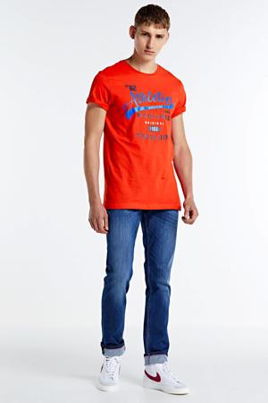 T-shirt Romeos met printopdruk rood