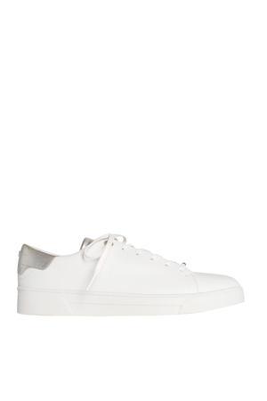 Zenib  leren sneakers wit/zilver