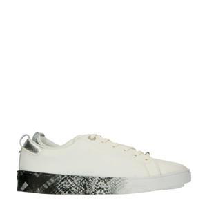 Relina  leren sneakers wit/slangenprint