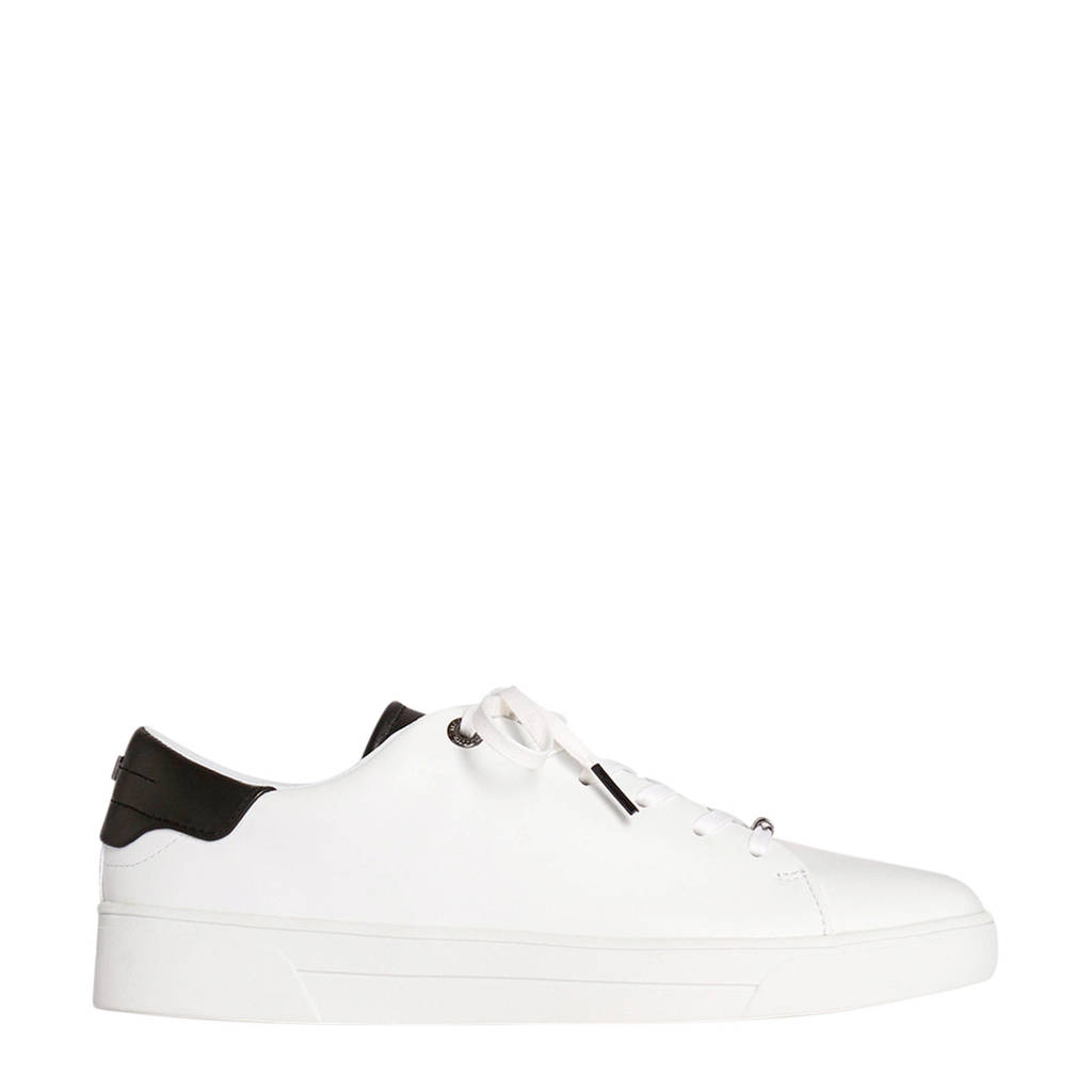 Ted Baker Zenib  leren sneakers wit/zwart, Wit/zwart
