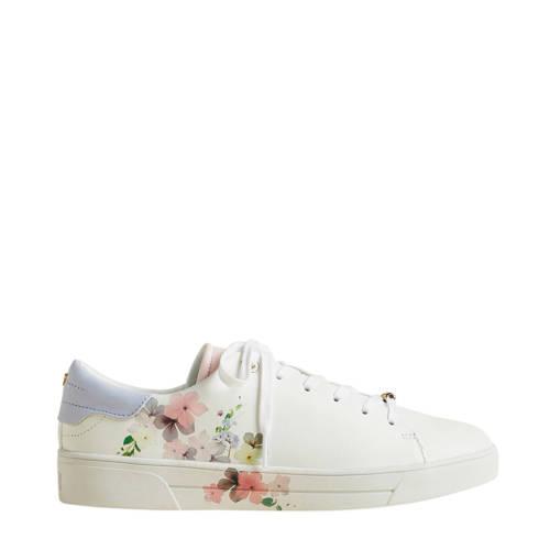 Ted Baker Lennei leren sneakers wit/bloemenprint