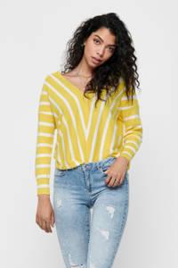 ONLY gestreepte trui geel/wit, Geel/wit